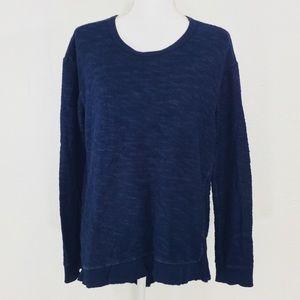 Left of Center Asymmetrical Sweatshirt Navy